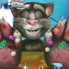 Invite your friend inside in this Talking Tom h...