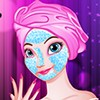 Frozen Anna has a big plan for New Year and on New Year's Eve, she is going to a have a great blast with the close ones. Elsa and other family members would be joining her. So it is a special moment for her and she wants to look better than her sister Elsa. She surely needs a little makeover tips from you. Treat her facial skin with creams and make it glow with the right makeup. Choose the best accessories and an outfit to dress her up for the fabulous makeover on New Year. Have fun playing this spa makeover game!