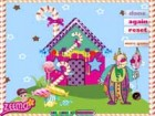 Decorate this candy house with variety of house's color style, roofs and access