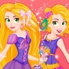 Hello cute fashionistas! It's Rapunzel's birthday and she is turning 16! It's a very exciting time because she is very happy to organize two wonderful sweet sixteen parties and she will invite all her friends. A now and modern party and a then, more traditional will be organized. You can help Rapunzel from Tangled by choosing outfits for each party. Play the Now And Then Rapunzel Sweet Sixteen game and start the dress up with the first and most luxurious outfit which is the then outfit. Select a great dress in a nice vintage style, in a green color with cute glitzy details. Her signature long hair it's best for this look and a pair of green shoes with a nice yellow bow. Add a vintage purse and this look is done.