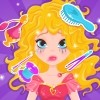 Princess Darla has a great date with her beautiful prince. She is on her way to the castle to meet him and have a great time together. Unfortunately, an evil witch appeared and ruined the princess's beautiful look. She is very sad and needs your amazing help getting ready again for her date, before the prince leaves without meeting her. In our amazing new game called Princess Royal Date you can help her look fabulous for her date, by cleaning her up and applying beautiful make up. Don't waste any time, because the prince might leave. Apply a cute shade of lipstick, mascara, eye shadow and a pink blush. She is ready for the date with your great help. Have fun playing the exclusive game called Princess Royal Date!