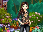 elena loves flowers and enjoys dressing herself in clothes with floral motifs.
