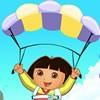 Dora want to fly with Parachute between the clouds. Now that her dream has come