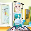 Here is another game in witch our ice princess becomes a very good housekeeper