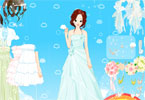 Dress up beautiful bride for her wedding.