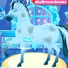 Anna loves spending time with Christoff, but she loves spending time with her beloved pet horse more! She is taking him on a ride today but first wants to give him a bath and groom him. Have fun helping Anna wash and style her pet horse. Don't forget to dress up Anna, too!