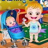 Baby Hazel is anxious to take care of her little brother, Matt. As she is too young, can you help her in attending to all his needs?  Engage with him and keep him happy all the time. Assist Hazel in changing Matt's nappy and feeding him on time. Purchase colorful and beautiful items to decorate Matt's room and assist Hazel in the decoration. Enjoy a fabulous time with the siblings in this unique baby care game!!