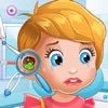 Hi girls. Let's play another beautiful girl game with our adorable baby Lizzie. As you know he is a very sweet baby who loves to play a lot. Now we have a bad news about him. He got sick and after a lot of ear pain he reached at the hospital for a consultation. Follow the instruction in this new baby care game and try to make baby Lizzie feel better. He has an ear infection and needs help from a good doctor. Could you help him? It is not a hard work but needs a lot of attention. Take a look in his ear and use all the tools to descover the surce of the problem. After it try to eliminate bacteria and bad viruses that can make baby Lizzie deaf. Make it right and finally baby Lizzie will be very happy and grateful about your work.