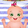 Today you are spending a great time with baby Rosy. You need to take  good care