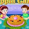Make your dinner more delicious by serving spongy apple cake as a dessert. This yummy cake is easy to bake at home and preparation time is also less. Join mom in the game to learn the ingredients and preparations of apple cake. Also add chocolate chips ice cream to the servings. Enjoy baking apple cake!!
