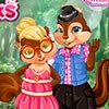 Look at this cute chipmunks couple! They are pl...