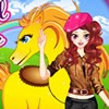 This is a fun dress up game for girls. This cool girl has a cute and handsome h