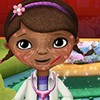 Doc Mcstuffins has a skin problem after a failed experiment, 