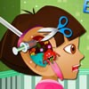 Dora was rushed to the doctor with an ear infec...