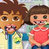 Dora and Diego arrived at the dentist with terr...