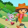 Dora has lost her pet monkey. Try your hands at this worlds hardest puzzle game