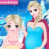 In this fun game we are going to pretend that Elsa is having her second child! Dress up Elsa in fun frozen maternity outfits and dress her first child, Fiona, in cute little baby clothes! Have fun playing frozen dress up games with skybreeze!