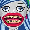 The first thing you need to deal with as Ghoulia's personal dentist is to brush