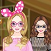 You can dress up this cute girl with Attic. Have fun with this fun fashion game.