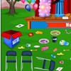 Play this cleaning game and clean up the place where there was a magic show per