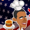 what shall Obama do after being relieved of his office? He runs a burger stand! Let's help obama to take orders and serve the customers and make his burger stand a success! Have fun!