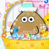 Pou smells bad and he decided that the shower time has come. But he is just a b