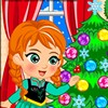 Queen Elsa wants Princess Anna to help her decorate their house for Christmas.