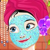 Princess Anna feels that though she is fearless and daring but she is not equal to her sister Elsa in terms of looks. Anna wants to look gorgeous like her sister and hence, she seeks your help in making her a beautiful princess whom everyone would admire. In this spa makeover game, you are expected to fulfill Anna's facial needs by make her face look impeccable using creams and makeup item. Style her look with an elegant hairstyle, outfit and accessories that she looks absolutely stunning in the end. Have fun!