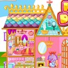 You best friend gave you cute princess doll house for your birthday. It has bedroom, bathroom, living room, kitchen and garen. But the furnitures and dolls are not in the right places. Could you find the correct position for all the items? It's very challenging. Have fun!