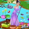 Princess Tiana is very worried about the health of the frog prince as the pond in which the frog prince is living is infested with litters and rubbishes. These unwanted things are polluting the pond and princess Tiana wants to do something about it. She is going to clean up the pond by removing all the rubbishes from the pond. She surely needs your helping hand in her big task of cleaning the pond. Have fun!