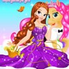 Welcome to a great dress up game that immerses you into the magic world of princesses. First have fun preparing and dressing up your magic princess for her first trip with her cute little friend. She deserves the most beautiful dresses and accessories. You can also dress up the pony and change its color, clothes, tail, hair and choose accessories and tattoos. Enjoy this princess game for girls and have a blast! Use your mouse to play and to choose your favorite items!