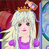 A beautiful princess need a hairdresser to take care of her \r\n beautiful hair