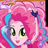 Pinkie Pie is getting ready to go on stage. She likes to get ready in her bedro