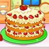 Stawberry cake are so good specially when they have cream on it. Cook delicious