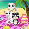 Talking Angela and her family will go to the beach today, because she promised