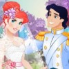it is wedding day for lovely mermaid princess Ariel. You must dress up Princess