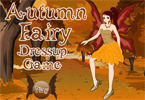 Beautiful autumn fairy has arrived. However, she has no idea what to wear and t