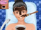 This Japanese facial starts with cleaning the skin and a cooling mask. After th