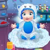 Baby Elsa bathing game is a really fun way to s...
