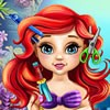 The sweetest baby mermaid in the undersea kingdom loves hairstyling and decided