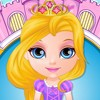Dress up baby Barbie in lots of fabulous Disney princess costumes and try to guess the character behind each outfit. The cute baby is crazy about Frozen Elsa and Anna, but she also likes Cinderella, Snow White, Rapunzel and Jasmine. Before starting the awesome dress up part, why don't you assist her in finding a few items in her girly bedroom? Can you spot the comb, hair pin, a couple of dresses, lipstick, beauty cream, flats, tiara, book and duck toy? Search in her drawers as well. Great job so far! Now it's time to move on to her wardrobe. Which princess dress looks prettier on Barbie? Is it Ariel's or maybe Merida's? Try all clothes and accessories on the beautiful girl and transform her one by one in all Disney princesses. Did you find Aurora's gown yet? Will she look better dressed up as Frozen Elsa or her sister Anna? Where on the shelves is the hairstyle worn by Rapunzel? How about Cinderella's shoes or Belle's diamond tiara? Have a sensational time playing our brand new baby game, girls!