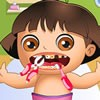 Dora baby is here in this new dentist game and you will have to make her teeth