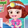 Baby hazel is going to be a dentist when she grown up. Today you can dress up b