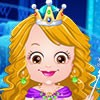 Baby Hazel wants to dress up in a princess style for the party at Ice Castle. B