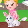 One day Baby Hazel finds a cute little rabbit i...