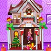 Decorate a Barbie doll house for christmas. Have fun with barbie's christmas doll house.