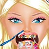Barbie came to your cabinet because she needs your help as a good dentist. Take a look at her teeth and use all dentist tools to make Barbie smiles again. She is a beautiful girl and deserves to have a big and healty smile.