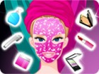 A fabulous facial makeover game with Barbie! The beautiful blonde doll is very