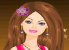 Cute Barbie is getting ready to go to a party.In this game help Barbie to get d