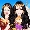 Can you help Barbie turn into a beautiful Indian princess, designing lots of fa